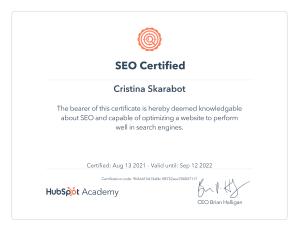 Certificazione SEO Hubspot